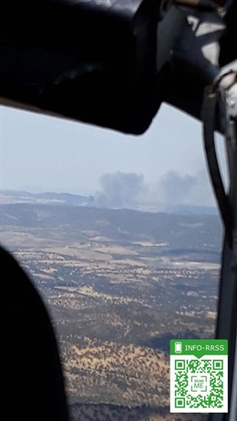 Incendio en Peñarroya-Pueblonuevo