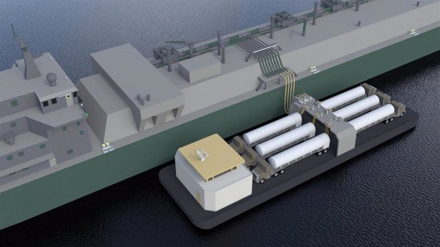 Innovación de Naturgy para la descarga de GNL desde un metanero a tierra