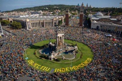 Unos 600.000 asistentes a la manifestación de la ANC por la Diada, según la Guardia Urbana