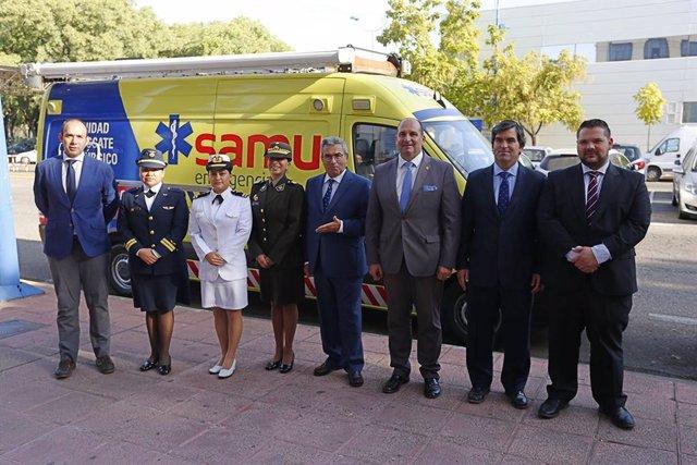Militares peruanas se forman en la provincia de Sevilla en materia de emergencias sanitarias
