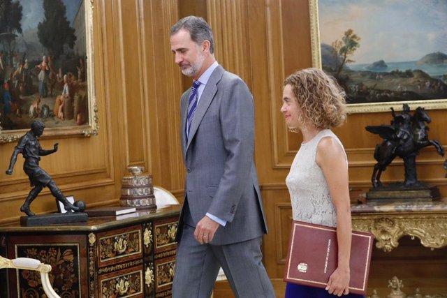 El Rey recibirá mañana a la presidenta del Congreso en el Palacio de la Zarzuela