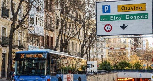 Imagen de archivo de un autobús de la EMT de Madrid.
