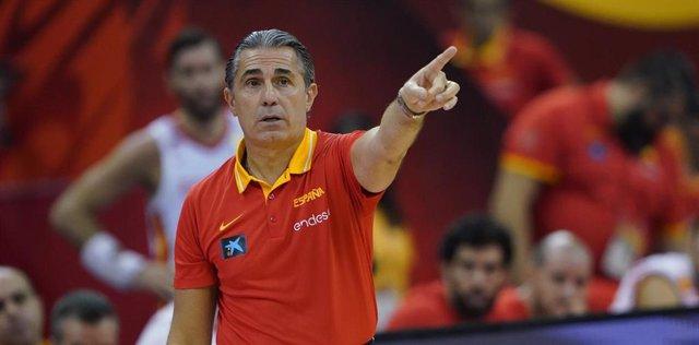 El seleccionador español de baloncesto, Sergio Scariolo.