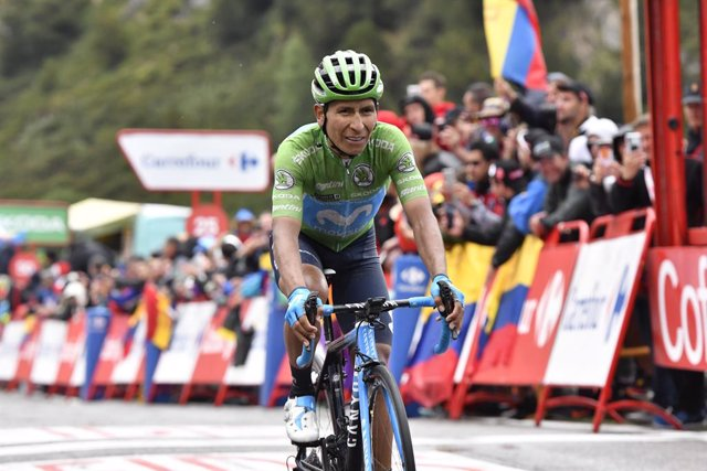 """Ciclismo/Vuelta.- Quintana: """"Cuando se cansan las piernas, se pedalea con el cor"""