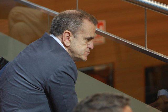 Imagen de archivo de el secretario general del PSOE en la Comunidad de Madrid, José Manuel Franco, durante el debate y votación del segundo pleno de la candidata del PP a la Presidencia de la Comunidad de Madrid en la Asamblea madrileña.