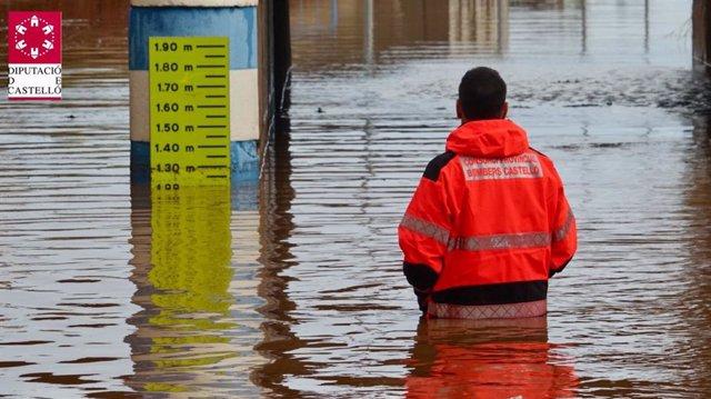 Inundación en Nules durante el temporal de septiembre de 2019