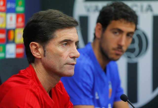Marcelino García Toral y Dani Parejo en rueda de prensa