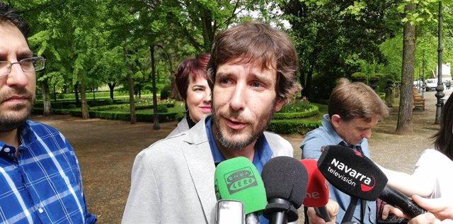 Mikel Buil, candidato de Podemos a la Presidencia del Gobierno de Navarra
