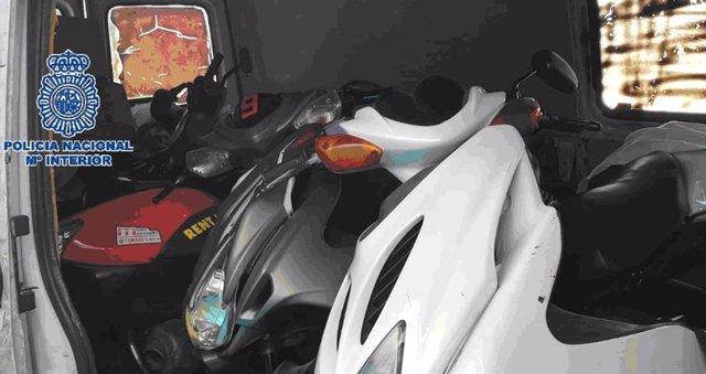 Ciclomotores robados en Marbella