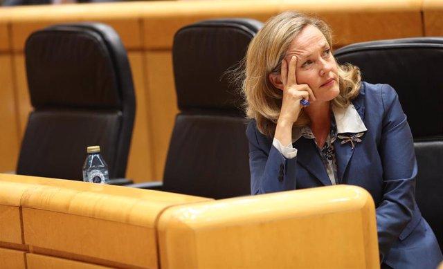 La ministra de Economía y Empresa en funciones, Nadia Calviño