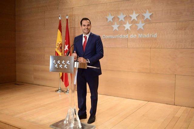 Imagen recurso del vicepresidente de la Comunidad de Madrid, Ignacio Aguado