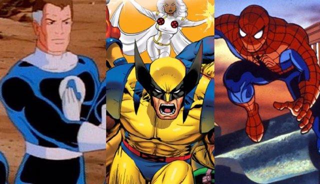 Las series de animación de los años 90 de Los 4 Fantásticos, X-Men y Spider-Man