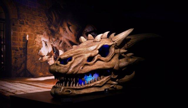 Calavera de dragón en la Exposición de Juego de Tronos