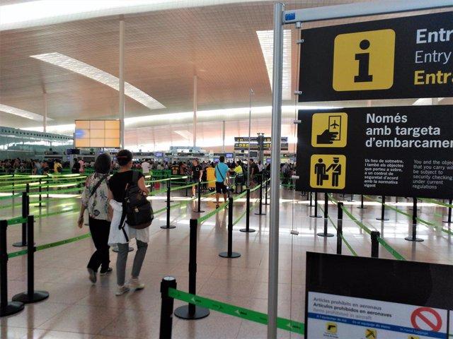 Terminal 1 de l'Aeroport de Barcelona.