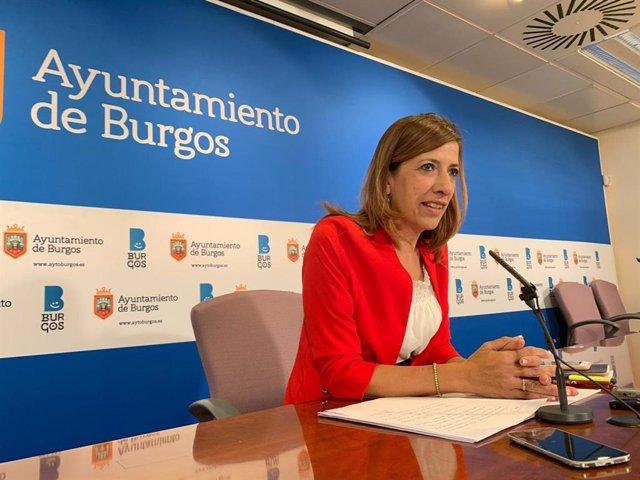 La portavoz del equipo de Gobierno local del Ayuntamiento de Burgos, Nuria Barrio.