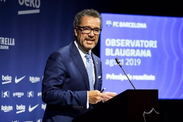 El portavoz de la Junta Directiva del FC Barcelona, Josep Vives