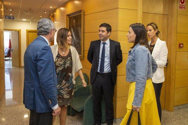 La consejera de Presidencia, Interior, Justicia y Acción Exterior, Paula Fernández, se reúne con la alcaldesa de Santander, Gema Igual