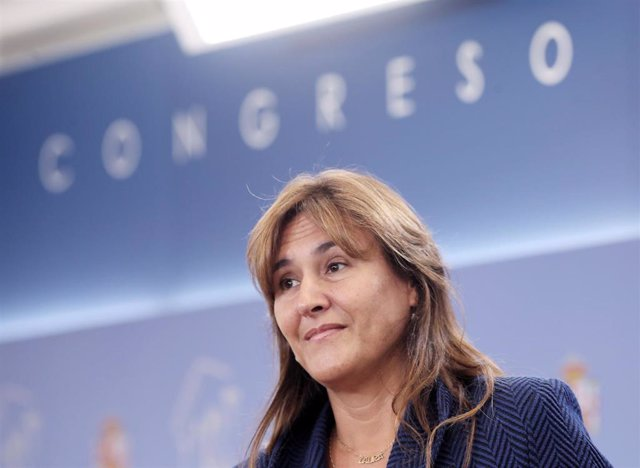 La portavoz de Junts en el Congreso, Laura Borràs, ofrece una rueda de prensa en el Congreso de los Diputados un día después de la celebración de la Diada de Cataluña 2019, en Madrid (España), a 12 de septiembre de 2019.