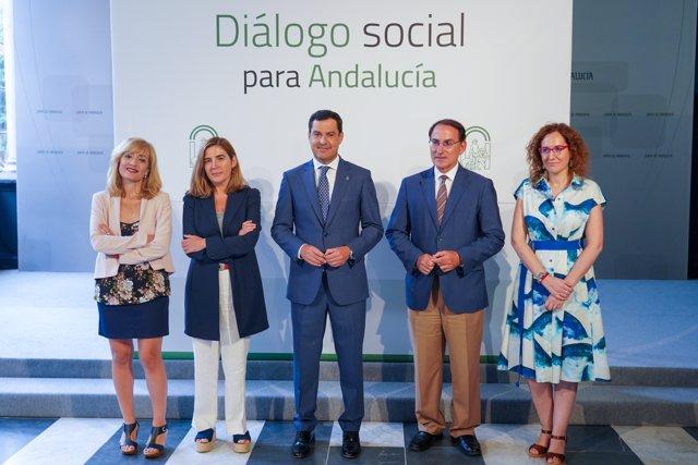 Reunión de la Mesa de Diálogo Social de Andalucía