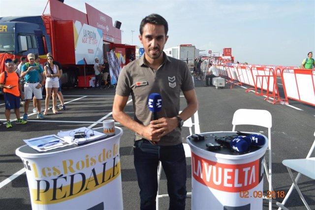 El exciclista español y comentarista de Eurosport Alberto Contador