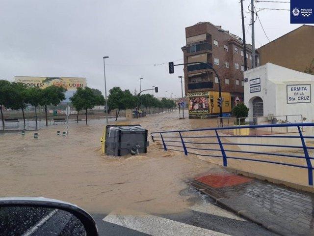 Lluvias DANA carreteras Murcia