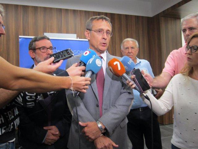 El delegado de la AEMET en Murcia, Juan Esteban Palenzuela, ofrece datos de la DANA en la región de Murcia