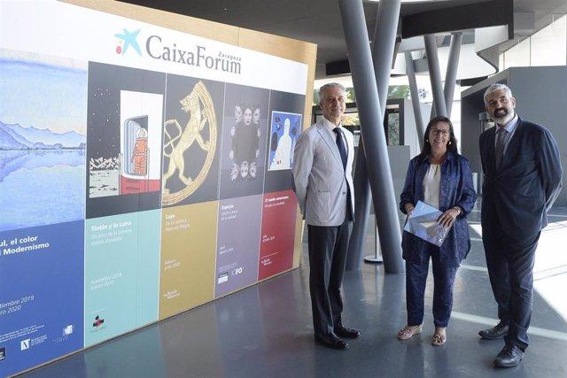 Elisa Durán, Ignasi Miró y Ricardo Alfós, de CaixaForum.