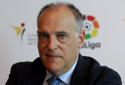 """Fútbol.- Tebas: """"Un futbolista me pidió denunciar el Levante-Zaragoza para no quedar manchado"""""""