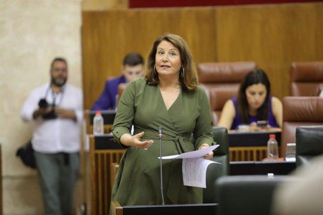 La consejera de Agricultura, Carmen Crespo, en el Parlamento en una imagen de archivo