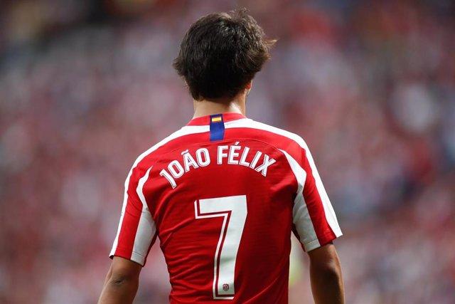 Joao Felix of Atletico de Madrid during the spanish league, La Liga, football match played between Atletico de Madrid and SD Eibar at Wanda Metropolitano Stadium on September 01, 2019.