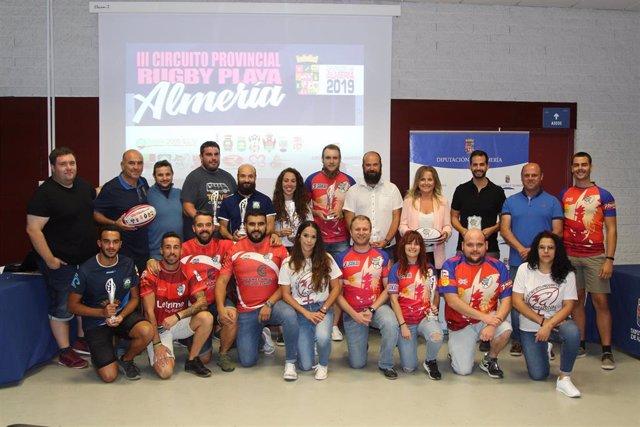 Clausura del Circuito de Rugby Playa de la Diputación de Almería