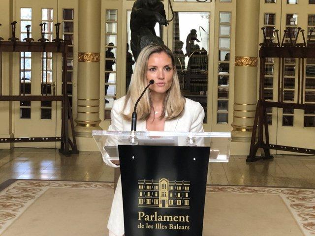 La portaveu de Cs al Parlament, Patricia Guasp.