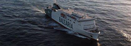 Baleària termina la descarga de los vehículos del 'Hypatia de Alejandría' que tuvo que ser desviado a Palma