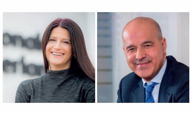 La consejera delegada de Nationale-Nederlanden en España, Cornelia Coman, y el presidente de la compañía, Julián Fernández Mata.