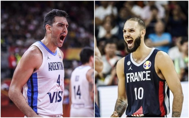 Scola (Argentina) y Fournier (Francia)