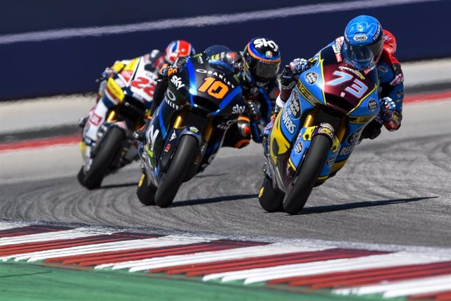 Alex Márquez durante el Gran Premio de Las Américas