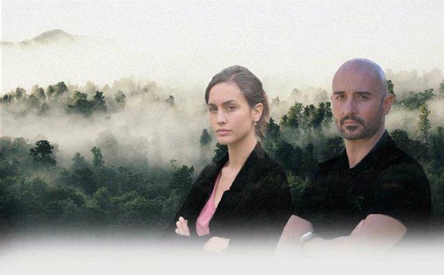 Imatge promocional amb els protagonistes de 'La caça', sèrie de TVE.