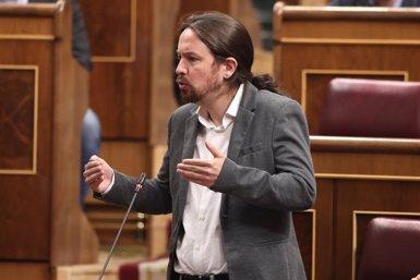 """Iglesias alerta que """"no abaixaran els braços"""" i es dirigeix a Sánchez: """"Encara tenim temps, posem-nos d'acord"""" (Eduardo Parra - Europa Press)"""