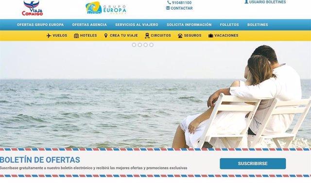 Una imagen de la web de la agencia que supuestamente ha estafado a varias personas en Madrid