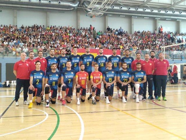 La selección española de voleibol, en la víspera del Campeonato de Europa masculino.