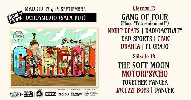 Imagen del cartel del festival GetMAD!