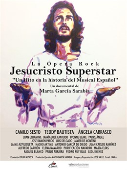 Cartel del documental 'Jesucristo Superstar' realizado por el artista Favila