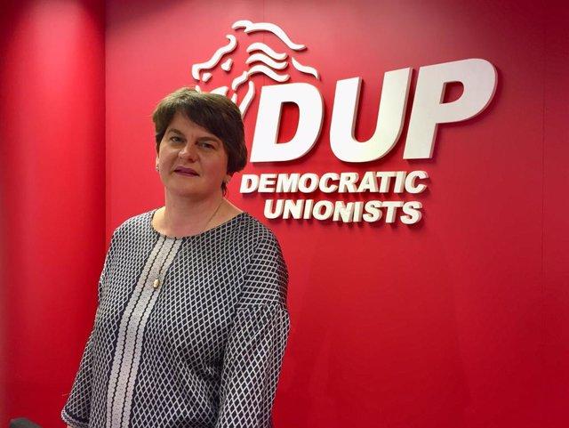 La líder del DUP, Arlene Foster