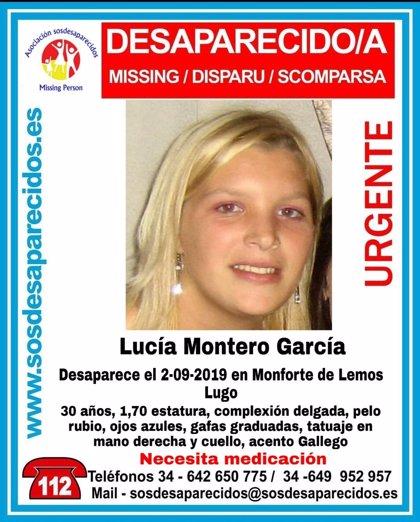 Buscan a una joven desaparecida desde hace 10 días en Monforte de Lemos (Lugo)