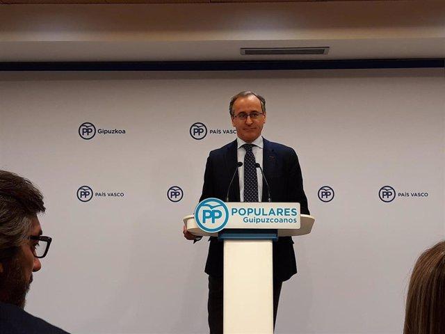 El presidente del PP vasco, Alfonso Alonso