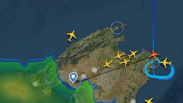 Situación de llegadas de vuelos en Mallorca ante las tormentas