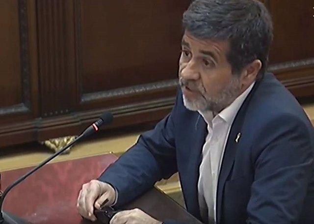 Jordi Sànchez en el judici pel procés al Tribunal Suprem.