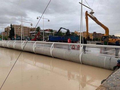 Policía procederá a cortar el tráfico en todos los puentes del río Segura en la ciudad de Murcia