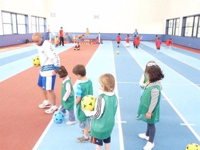 Escuela de fútbol del IMD