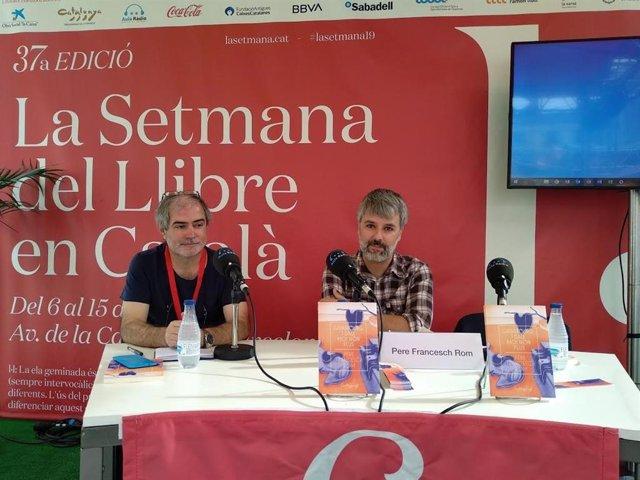 El editor Ramon Moreno y el periodista Pere Francesch